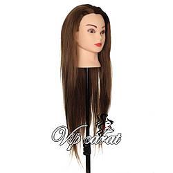 Манекен для причесок / учебная голова для парикмахера 20% натуральных волос