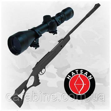 Пневматическая винтовка Hatsan AirTact ED с оптическим прицелом 3-9x40 (Хатсан страйкер едж)