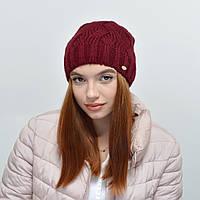 Женская шапка Nord на флисе 16112 бордо