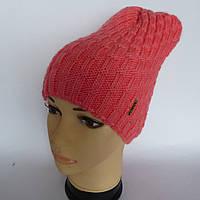 Молодежная вязаная шапка для девочки  микс