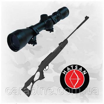 Пневматическая винтовка Hatsan AirTact PD с оптическим прицелом 3-9x40 (Хатсан страйкер едж)