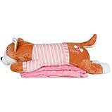 Подушка в авто игрушка плед, декоративная автомобильная подушка-плед Хаски, фото 3