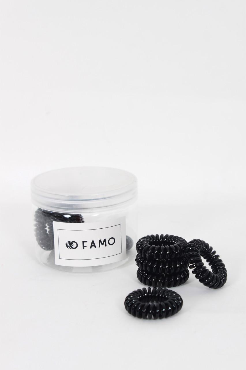Резинка для волос FAMO Набор резинок Флант черный One size (Rez-68)