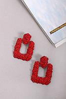 Подвески FAMO Серьги Нан красные Длина 6(см)/ Ширина 4.3(см) (4-5557)