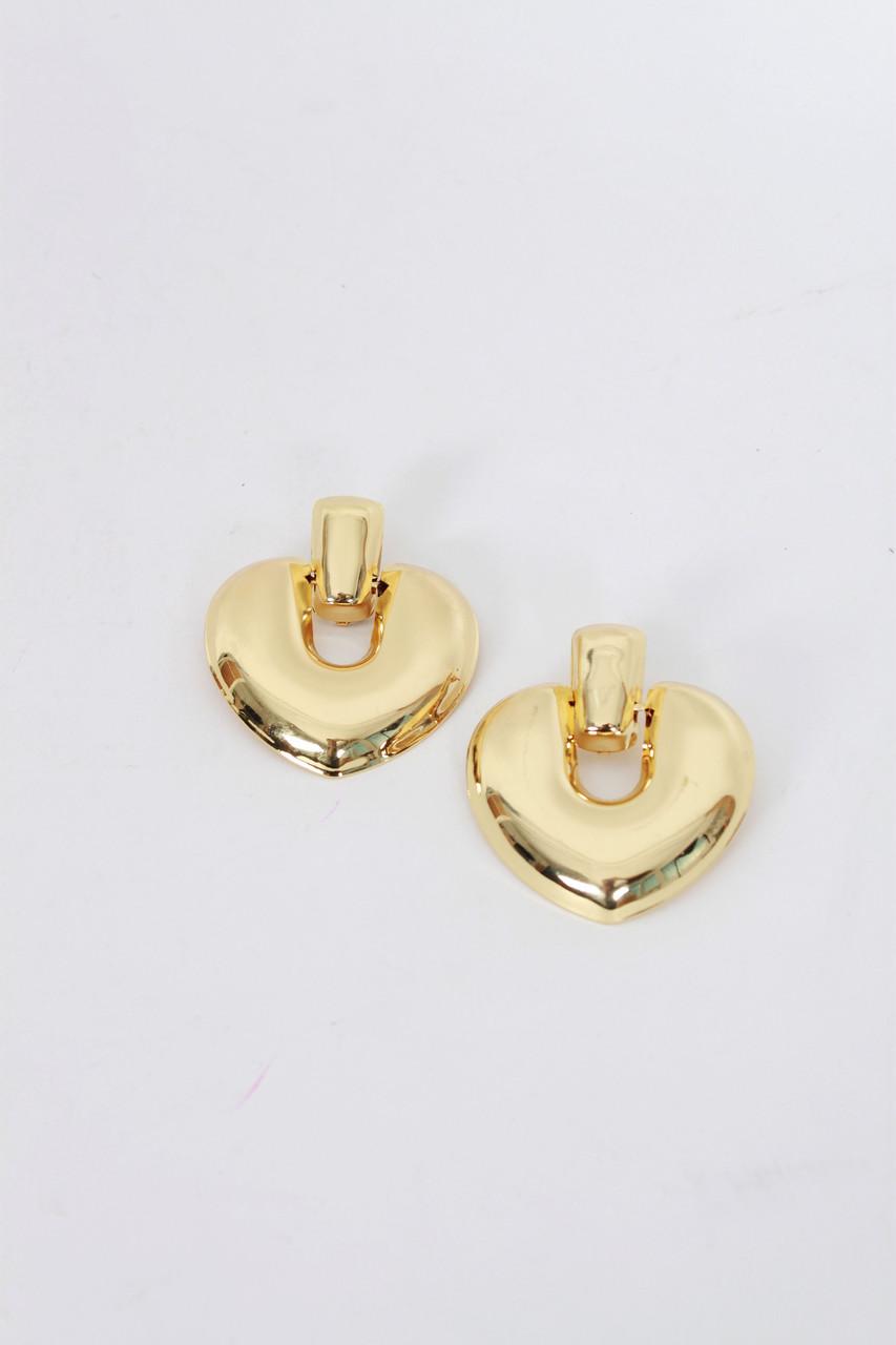 Пусеты FAMO Серьги Олвен золотые Длина 6.5(см)/ Ширина 5.5(см) (1751)