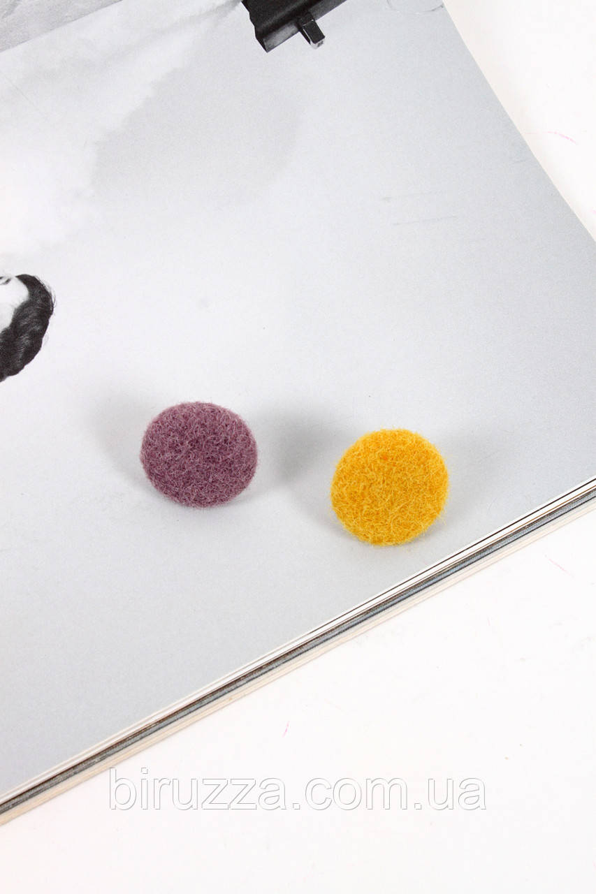 Пусеты FAMO Серьги Рэйчел лиловый+желтый Длина 2.5(см)/Ширина 2.5(см)