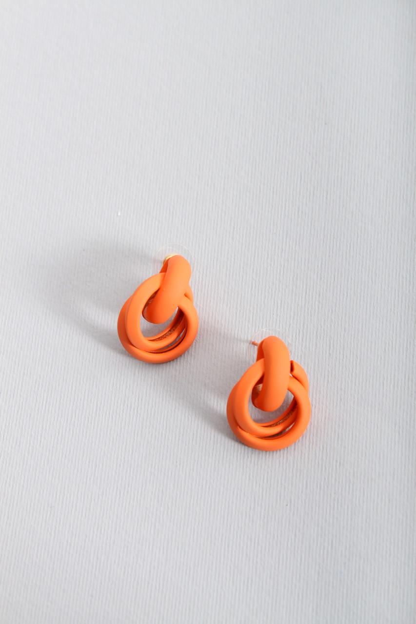 Пусеты FAMO Серьги Эльби оранжевые Длина 2.6(см)/ Ширина 2(см) (X164-244)