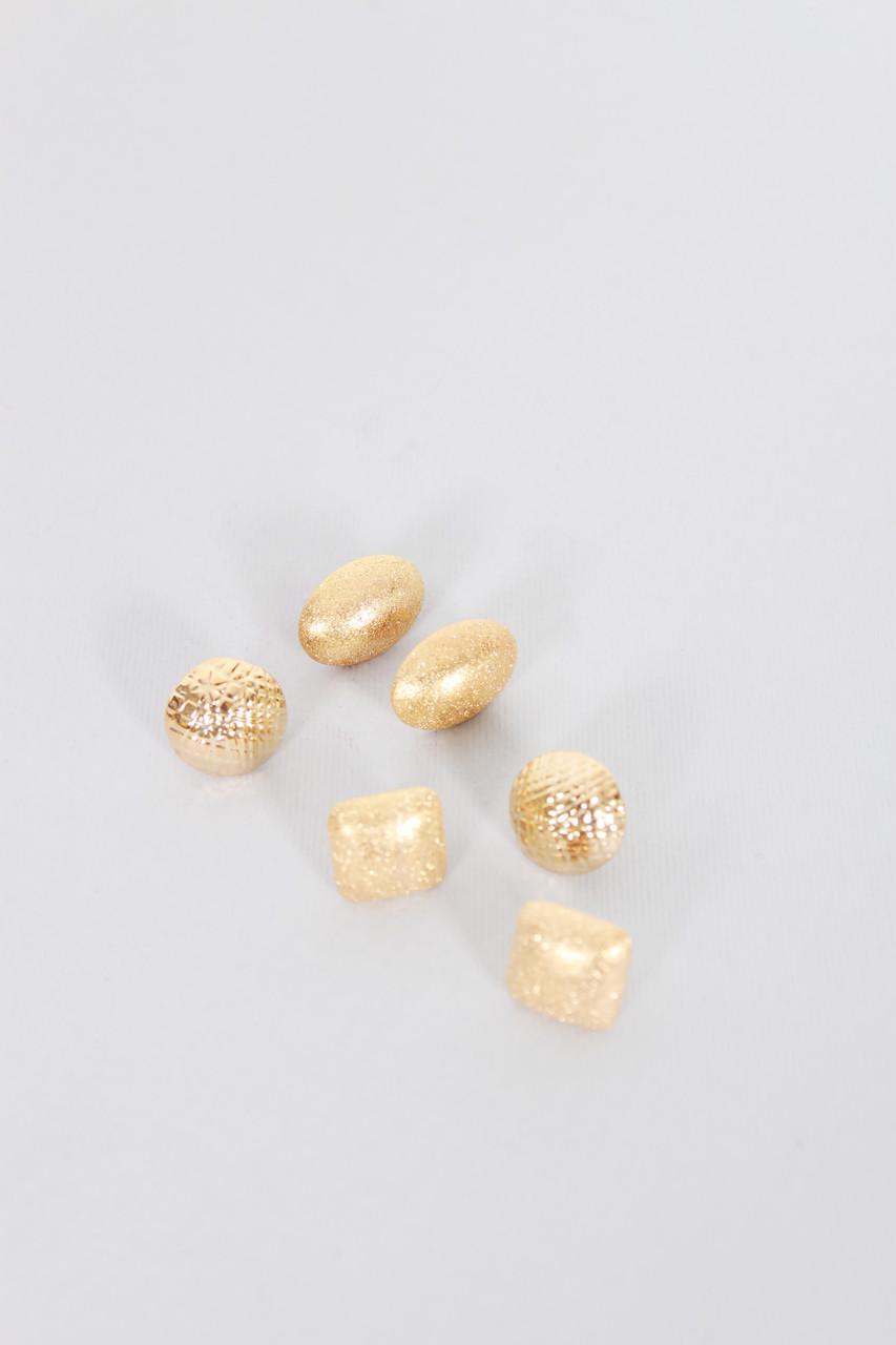 Набор сережек FAMO Трида золотой Длина 1.5/1.6/2(см)/ Ширина 1.5/1.6/1.5(см) (52)