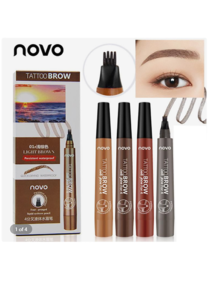 Маркер  для бровей имитирующий волоски Novo Tattoo Eyebrow