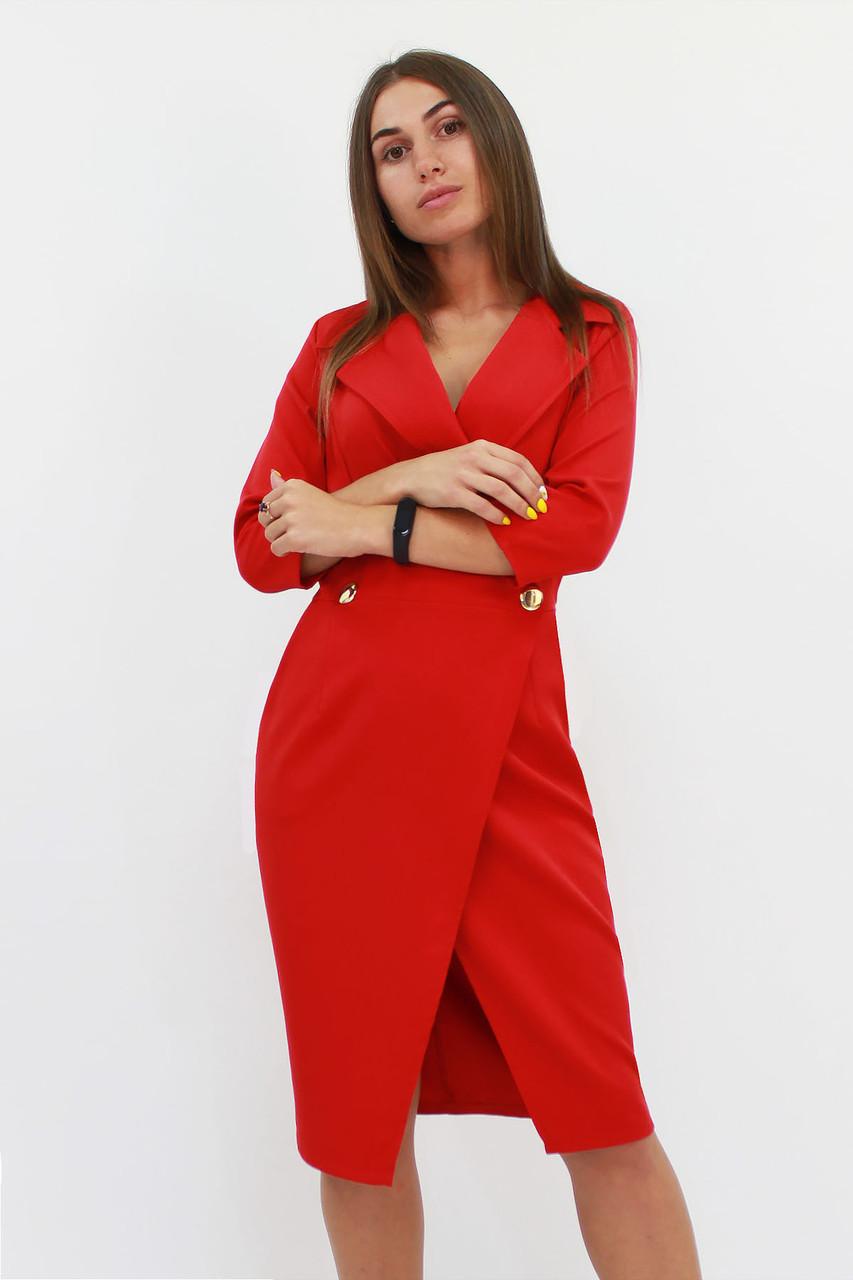 Классическое женское платье Kristall, красный