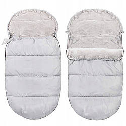Детский конверт для коляски, санок, переносок и кроваток 4 в 1 Springos SB0031 Grey серого цвета