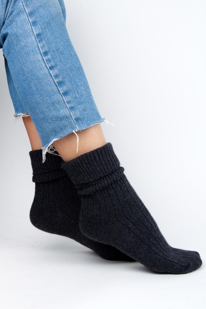 Женские носки FAMO Носочки Глимэн графитовые 36-40 (8011)