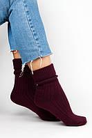 Женские носки FAMO Носочки Глимэн темно-бордовые 36-40 (8011)