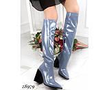 Сапоги , демисезон на устойчивом квадратном каблуке, фото 3