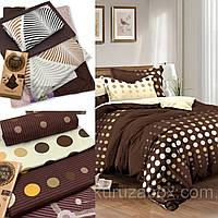 Двуспальный комплект постельного белья «Шоколадный» 177х217 см из сатина