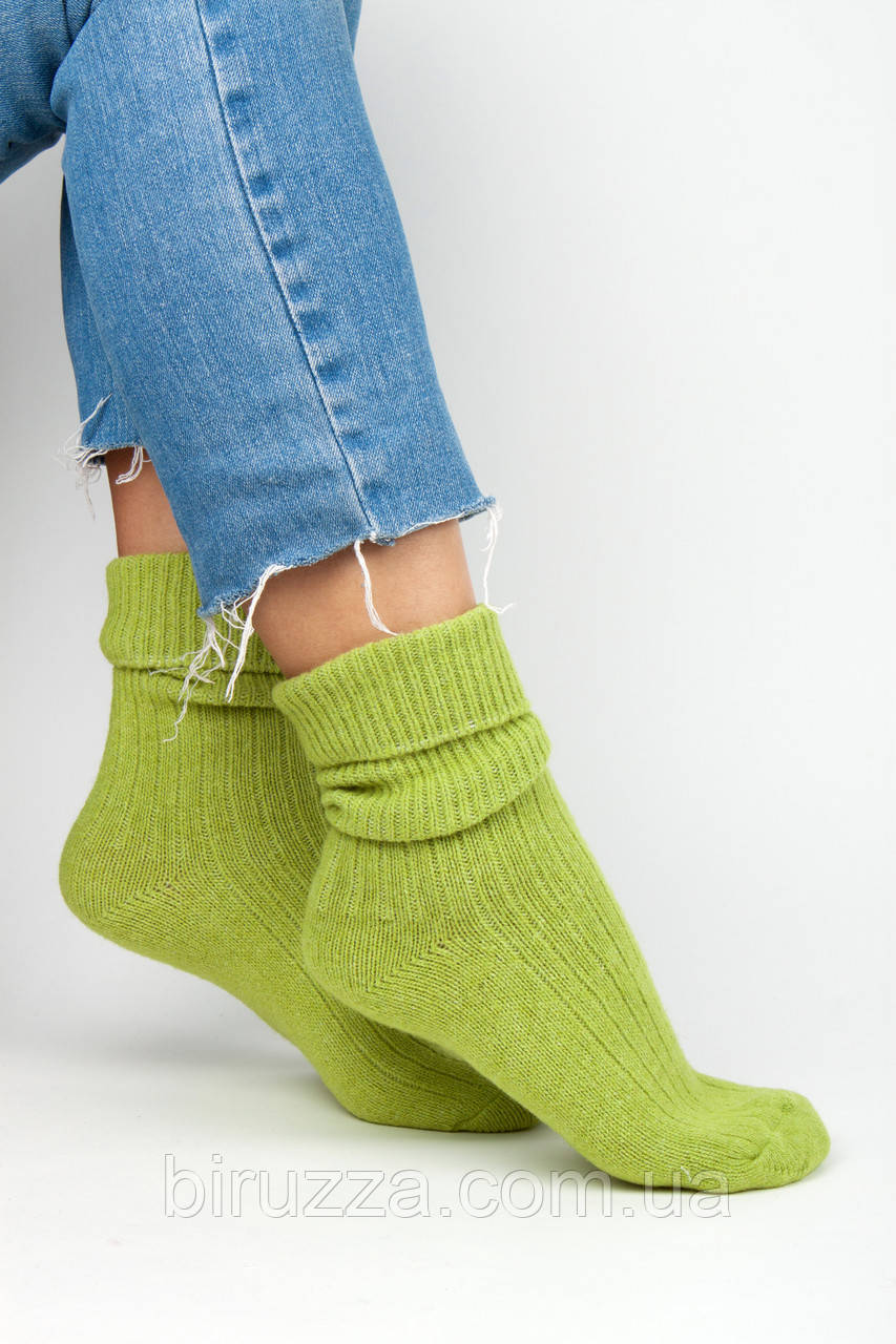 Женские носки FAMO Носочки Глимэн ярко-салатовые 36-40 (8011)