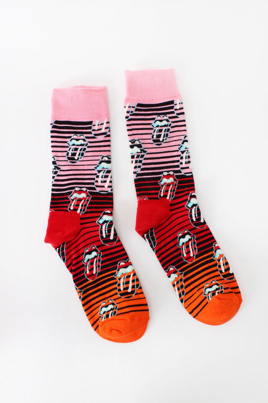 Женские носки FAMO Носочки Джудит розовый+красный 36-41 (NF-2004-22)