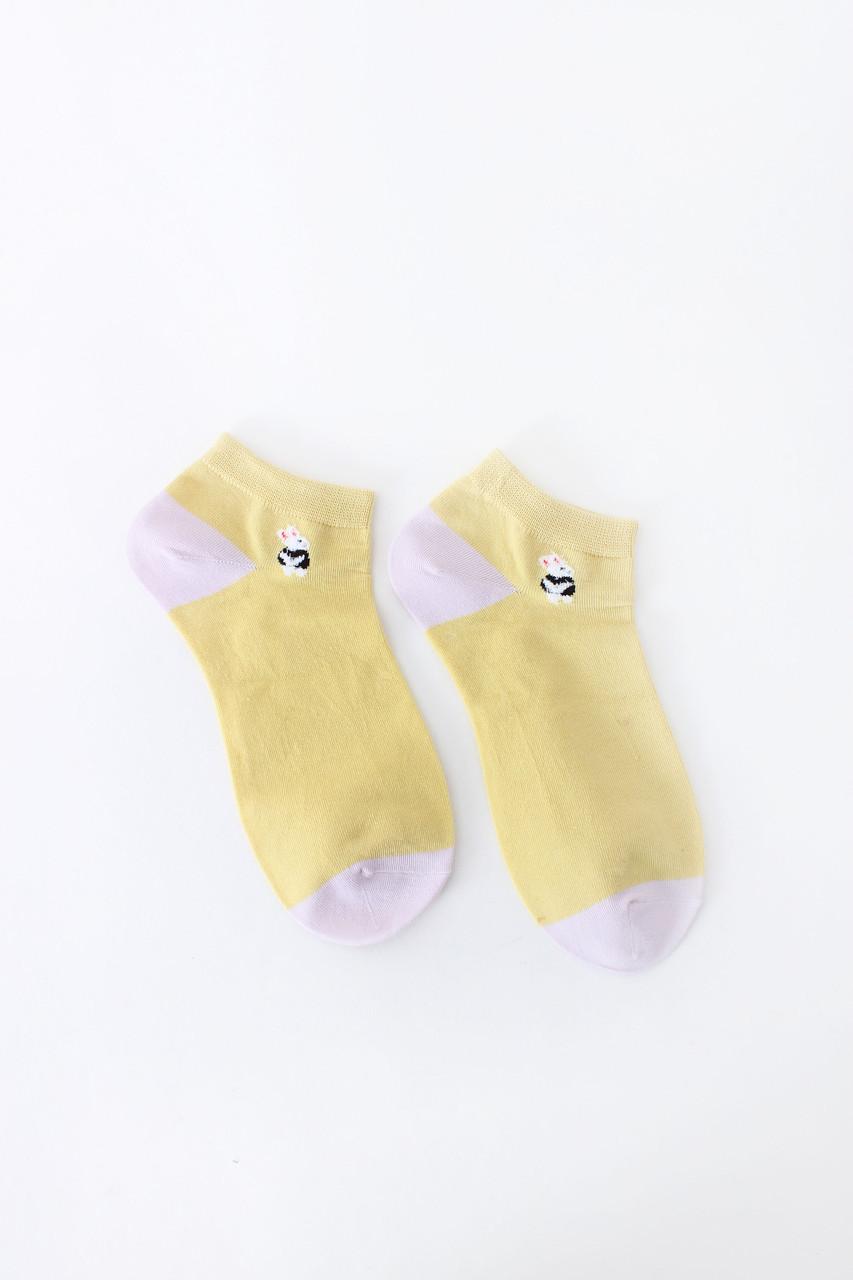 Женские носки FAMO Носочки Карен желтый 36-39 (NF-2003-27)