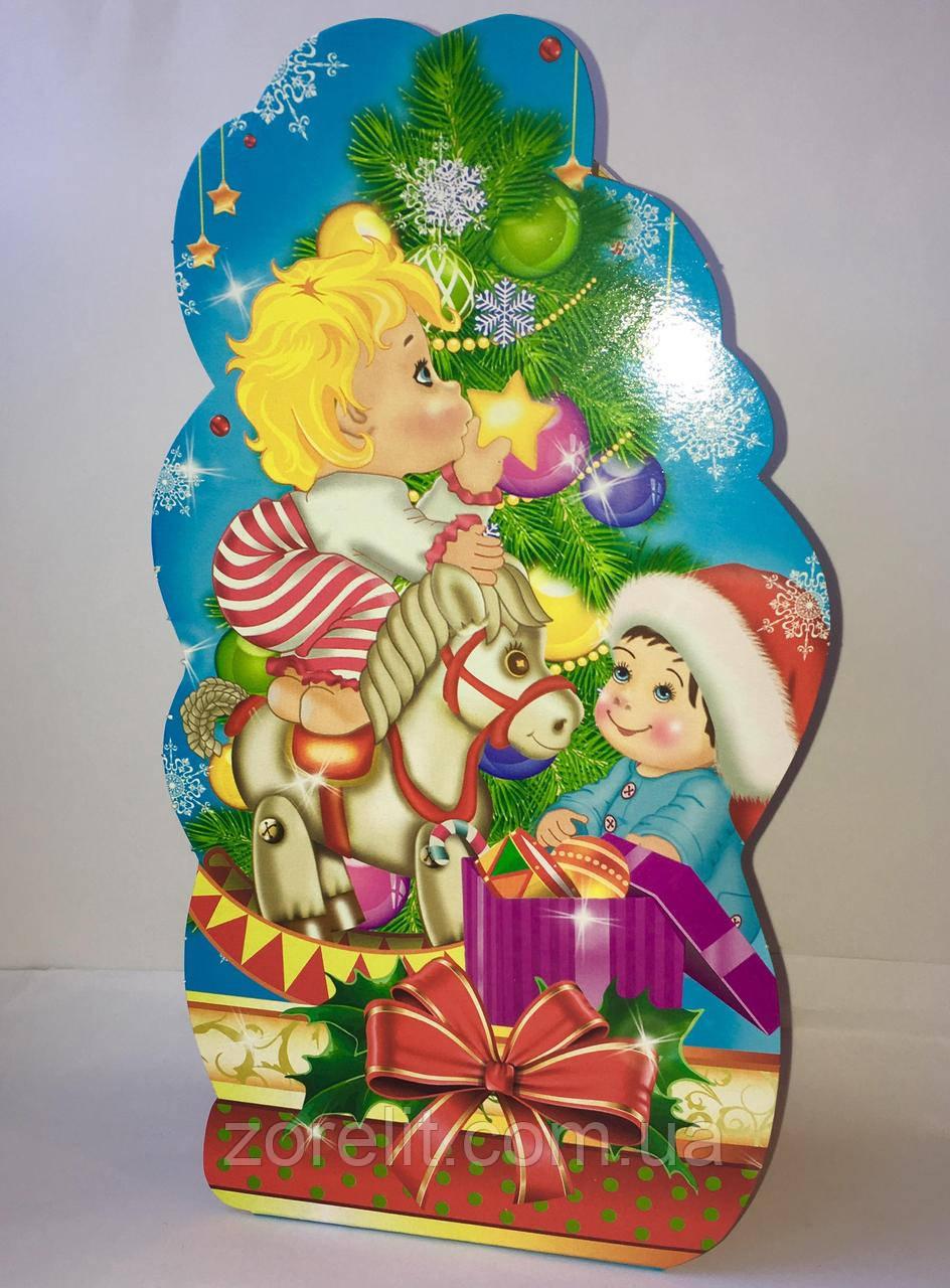 Новорічні коробки для цукерок (700грам) 001