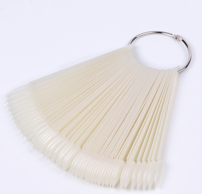 Фурман Палитра-веер для образцов на кольце, миндальная форма Матовая (50 шт)