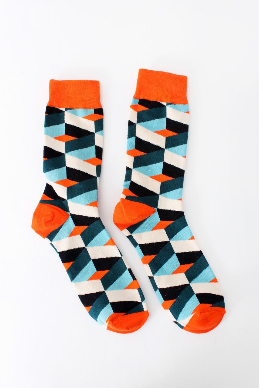 Женские носки FAMO Носочки Марли синий+оранжевый 36-41 (NF-2005)
