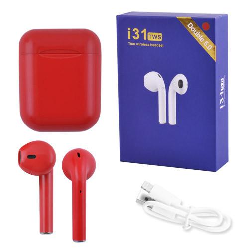 Беспроводные наушники i31 (Красный)