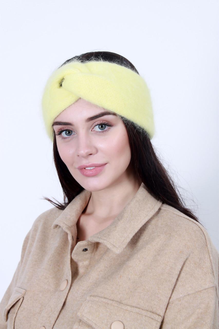 Повязка на голову - тюрбан FAMO Повязка на голову Лэйли желтая One size