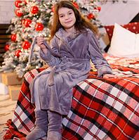 Детский плюшевый халат