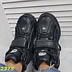 Кросівки, черевики на високій платформі зимові чорні, фото 9