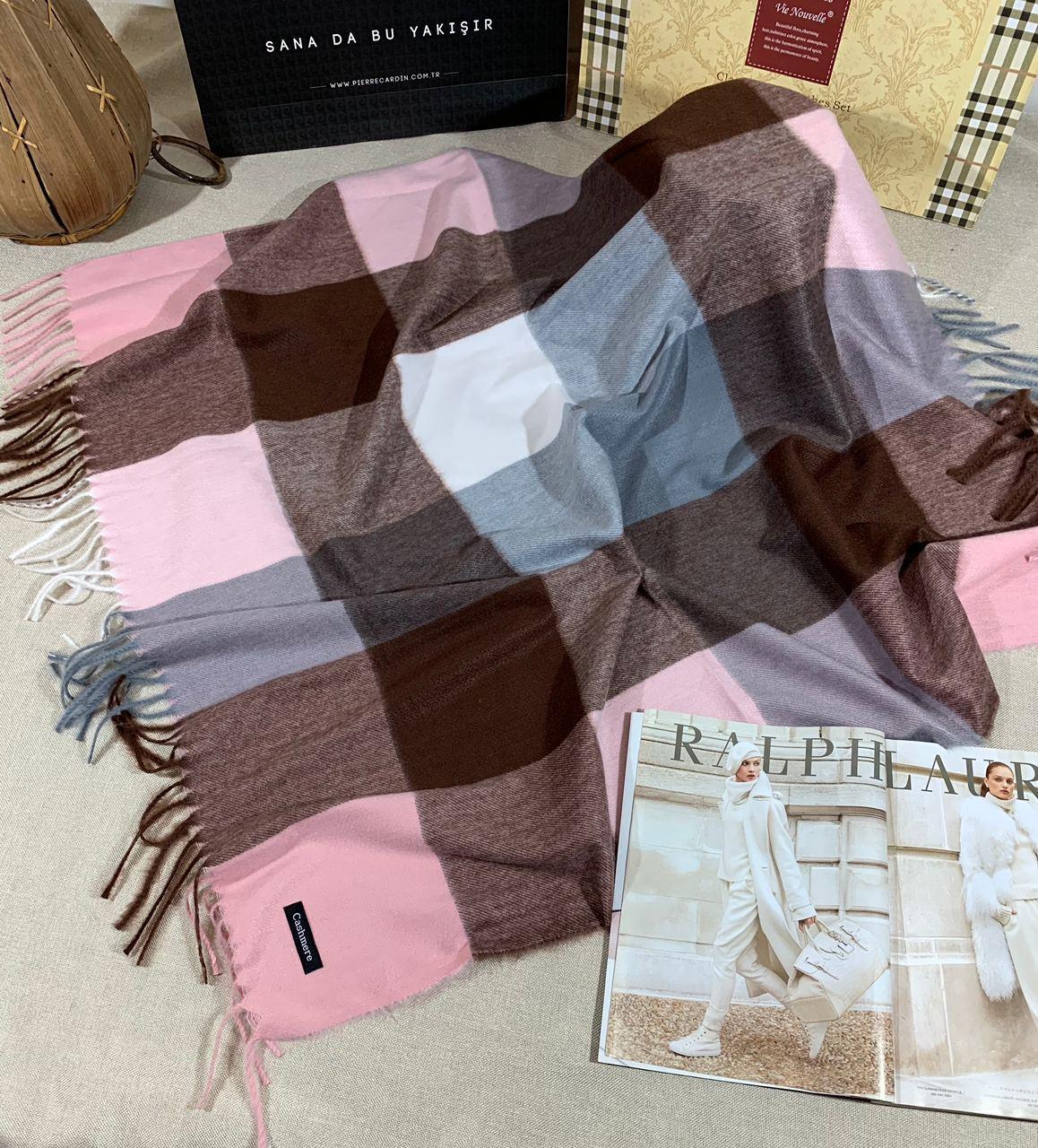 Кашемировый теплый платок Cashmere 213013