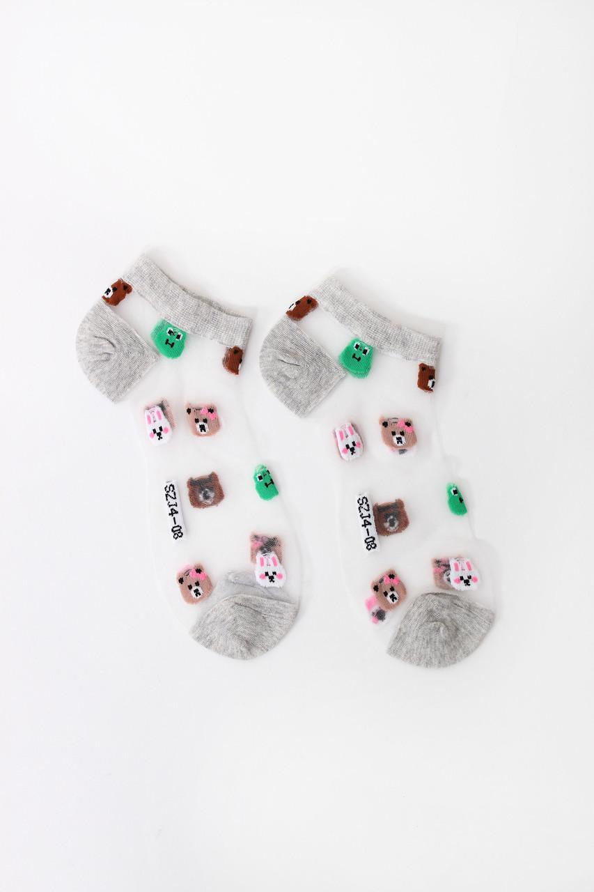 Женские носки FAMO Носочки Сюзи светло-серые 36-39 (NF-2003-2)