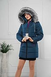 Женская зимняя куртка с искусственным мехом р. 44-58