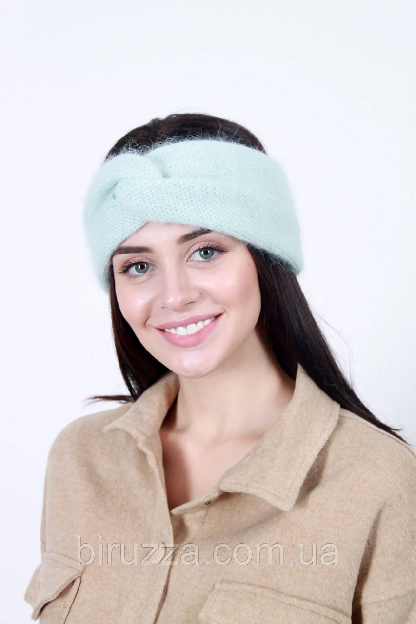 Повязка на голову - тюрбан FAMO Повязка на голову с люрексом Кимли бирюзовая One size