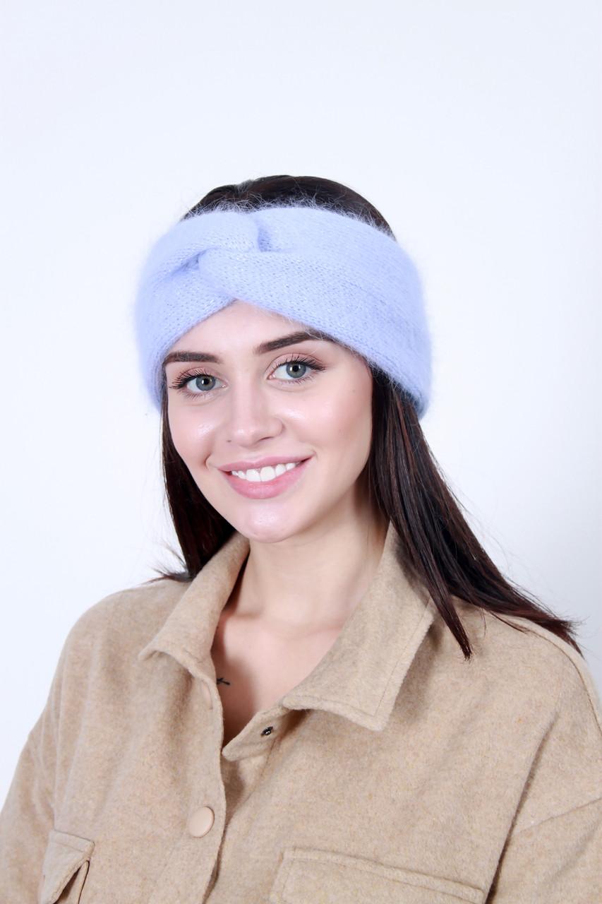 Повязка на голову - тюрбан FAMO Повязка на голову с люрексом Кимли светло-лиловая One size
