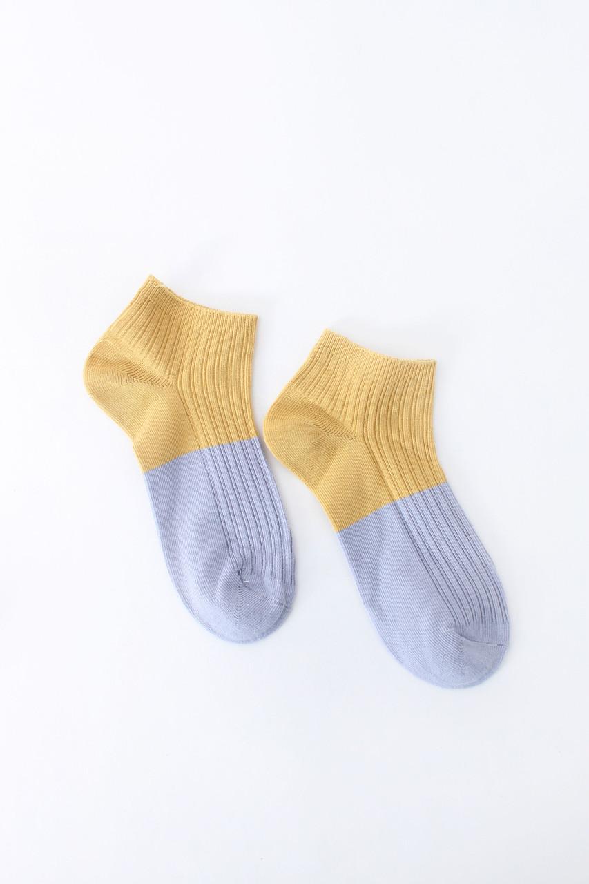 Женские носки FAMO Носочки Терил лиловый+желтый 36-39 (#9232-1)