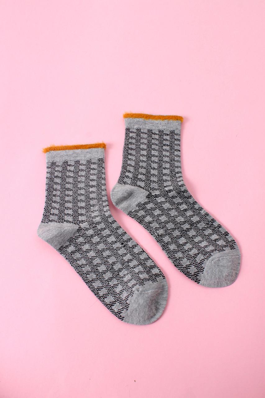 Женские носки FAMO Носочки Ута серые 36-40 (В1234)