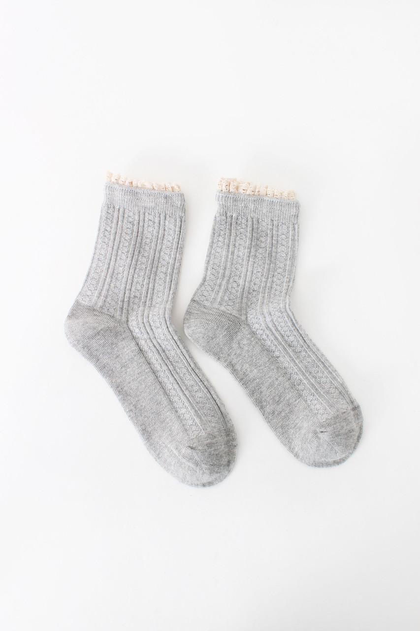 Женские носки FAMO Носочки Фреда серый 36-39 (NF-2007)