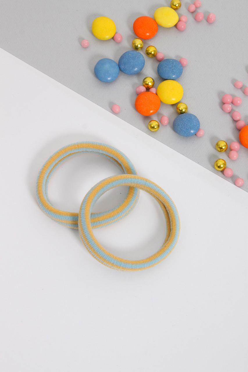 Резинка для волос FAMO Резинка Рита оливковая+желтая Ширина 1(см)/ Диаметр 5(см) (3002-01)