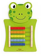 Бизиборд Лягушка со счетами Viga Toys 50679
