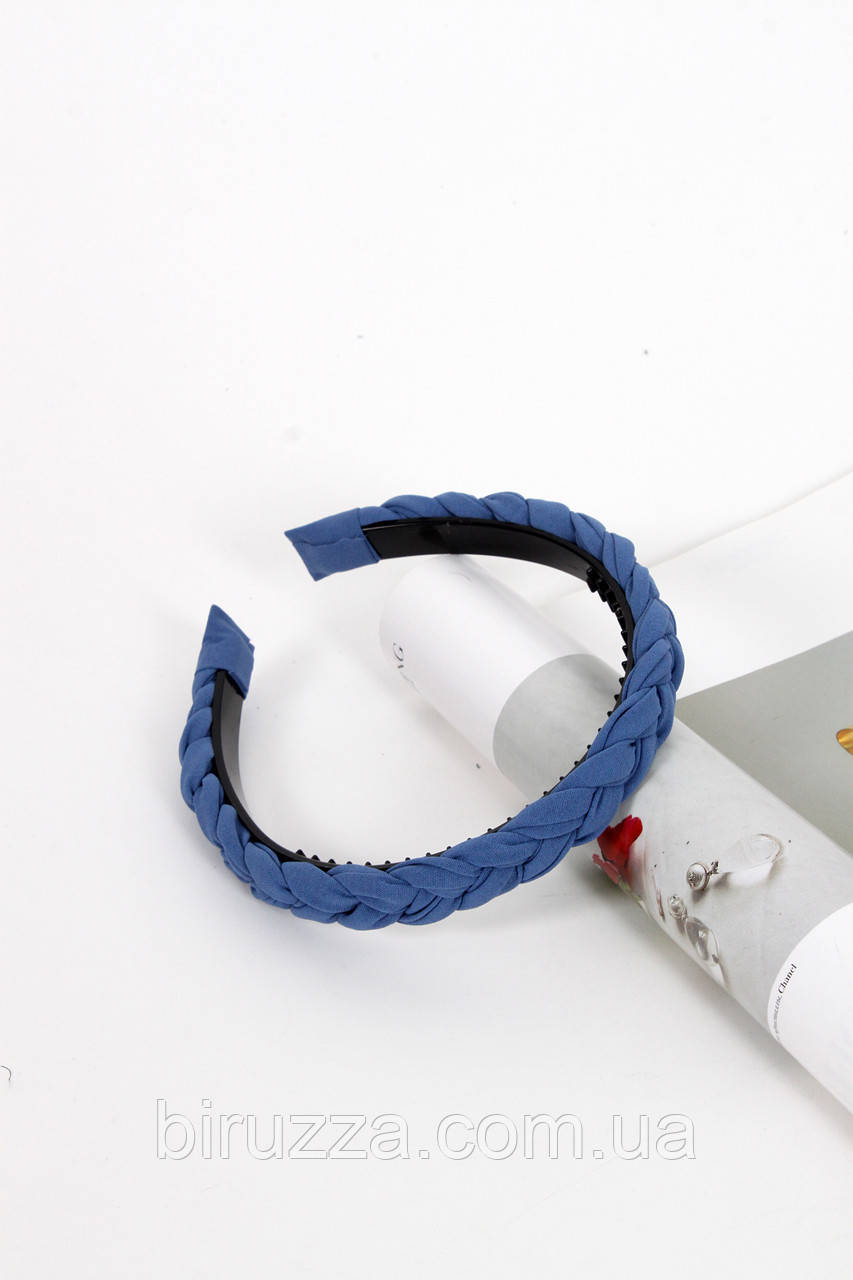 Обруч FAMO Линда голубой Длина 45(см)/ Ширина 2(см)