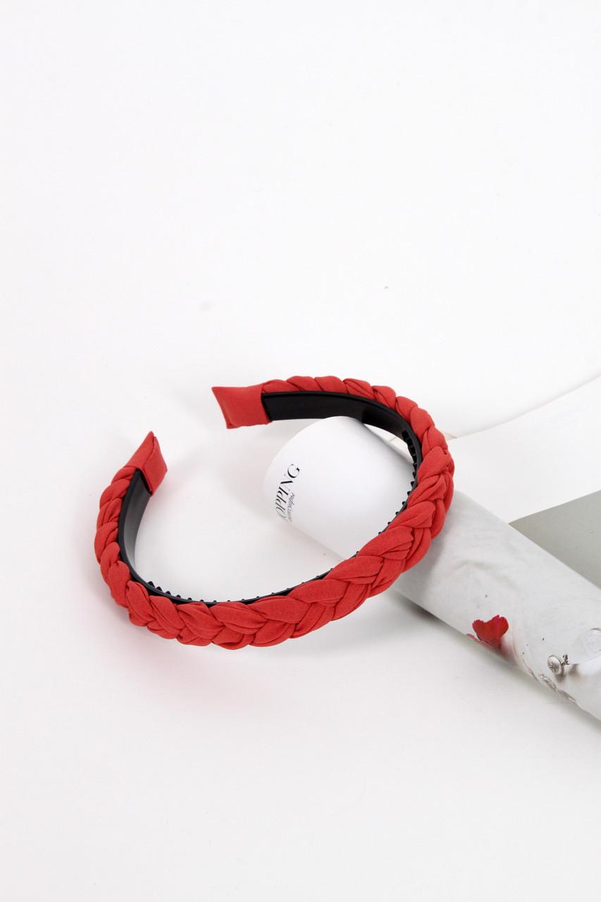 Обруч FAMO Линда красный Длина 45(см)/ Ширина 2(см)