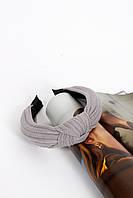 Обруч FAMO Моник серый Длина 42(см)/ Ширина 4(см)