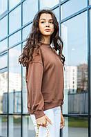 Кофты, свитшоты FAMO Свитшот Анжели коричневый M M/ EUR - 38/ UK - 46