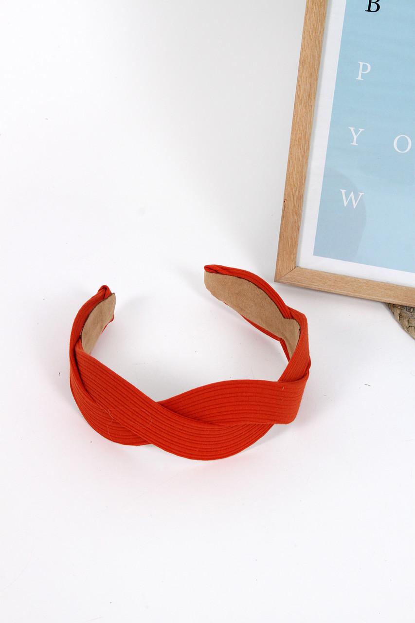 Обруч FAMO Хелена красный Длина 41(см)/ Ширина 5.5(см)