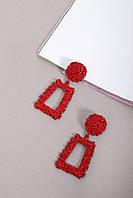Подвески FAMO Серьги Ариадна красные Длина 6(см)/ Ширина 4.2(см) (4-5569)