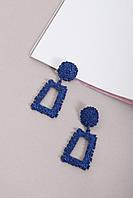 Подвески FAMO Серьги Ариадна синие Длина 6(см)/ Ширина 4.2(см) (4-5569)