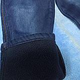 Теплые модные красивые джинсы для мальчика. Утеплитель- флис. Украшение- аппликация., фото 3