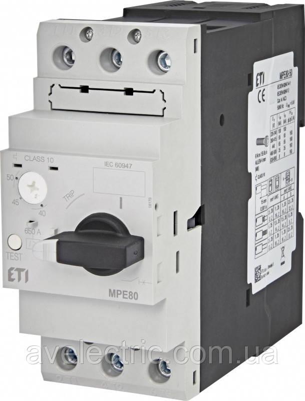 ETI, 4648017, Авт. вимикач захисту двигуна MPE80-65