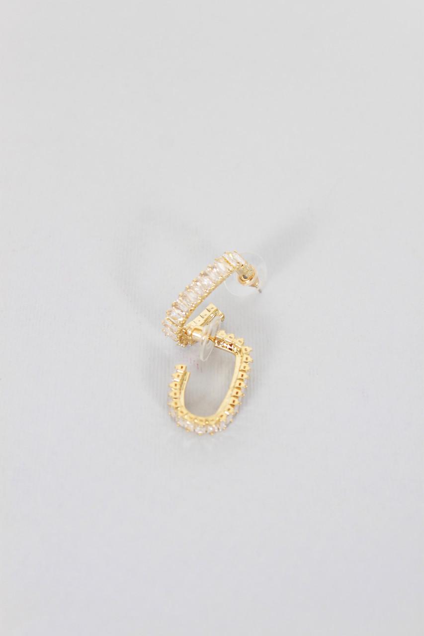 Пусеты FAMO Серьги Дорли золотые Длина 5.5(см)/ Ширина 0.5(см) (Ser26)