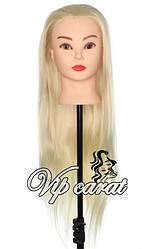 Учебная голова манекен для причесок / голова для парикмахера / болванка для плетения